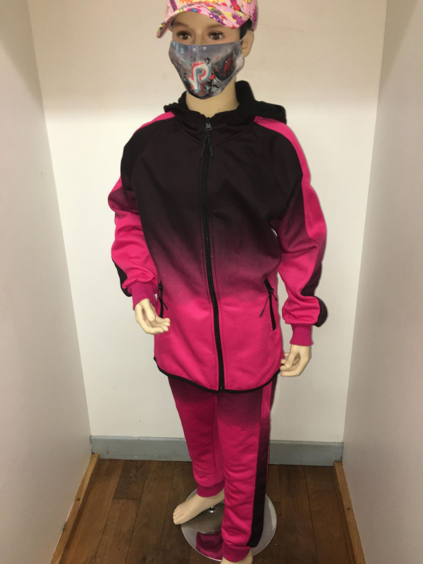 Ensemble jogging fillette rose