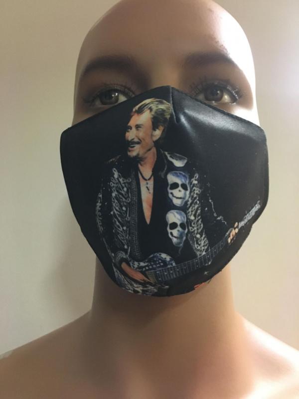 Masque Johnny Hallyday Tête de mort