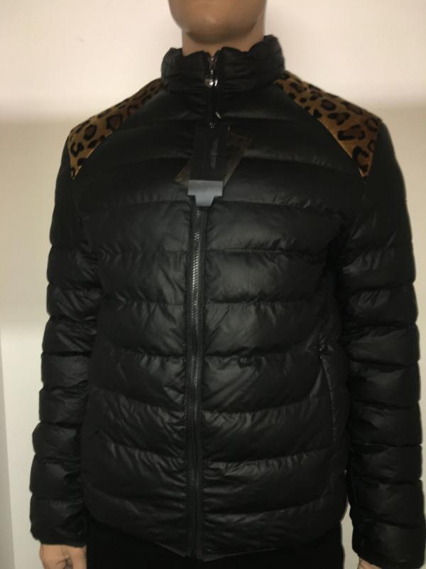 Doudoune motif léopard