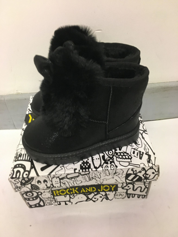 Bottines fourrure noires lapin