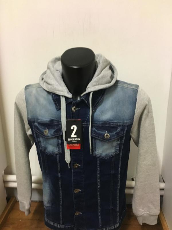 Blouson en jeans bleu