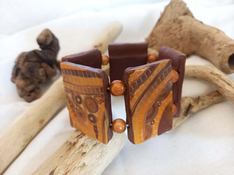 """Bracelet """"mosaïque d'automne"""""""