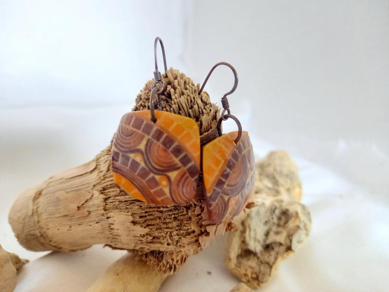 """Boucles d'oreilles """"mosaïque d'automne"""""""