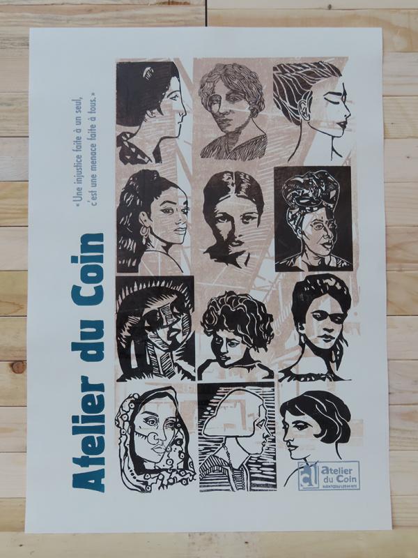 Affiche Atelier du Coin citoyennes noir
