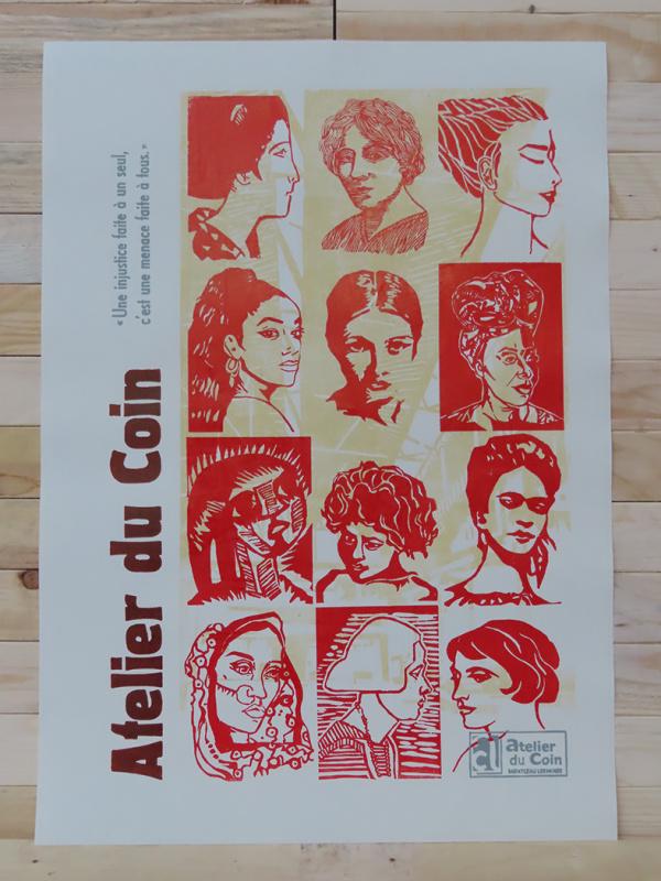 Affiche Atelier du Coin citoyennes rouge