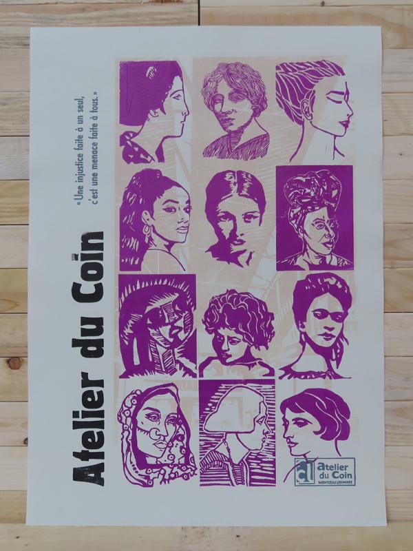 Affiche Atelier du Coin citoyennes violet