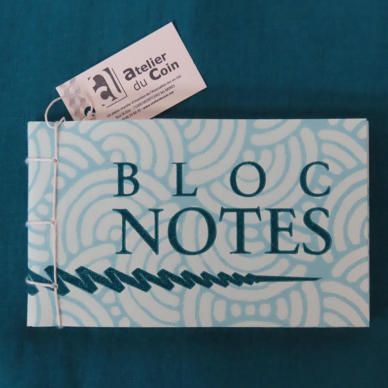 Bloc-notes bleu