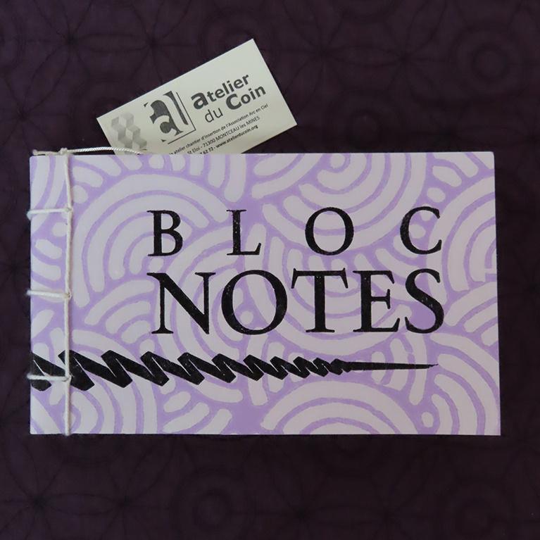 Bloc-notes violet