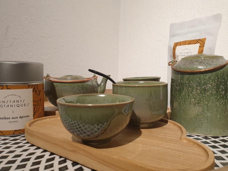 Bol à thé rond zaozam vert jade  12 (diamètre 8 par 5 de hauteur)