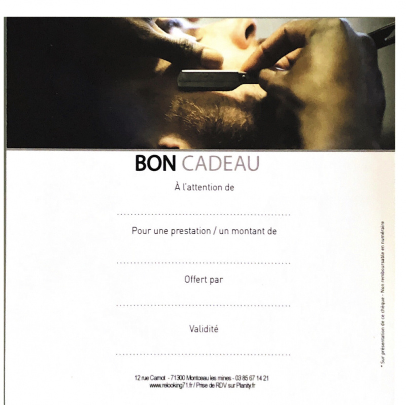 CARTE CADEAU: COUPE COIFFAGE + BARABE