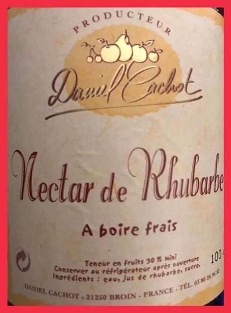 Nectar de Rhubarbe - Bouteille de 100 cl