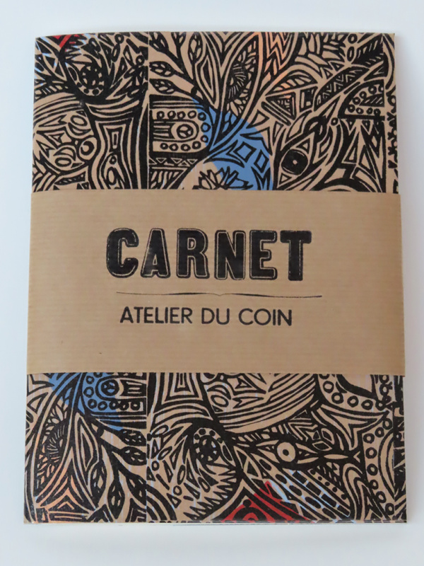 Carnet jungle beige pages blanches