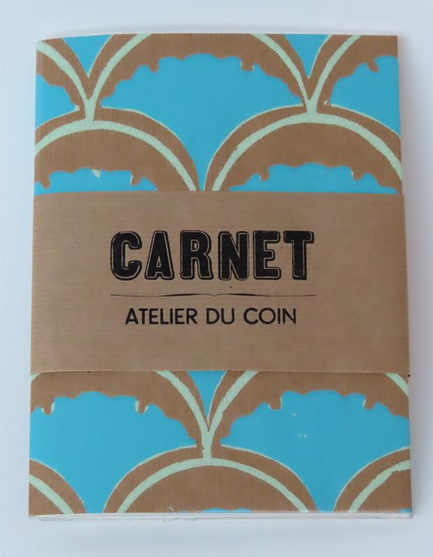 Carnet ginko bleu pages quadrillées