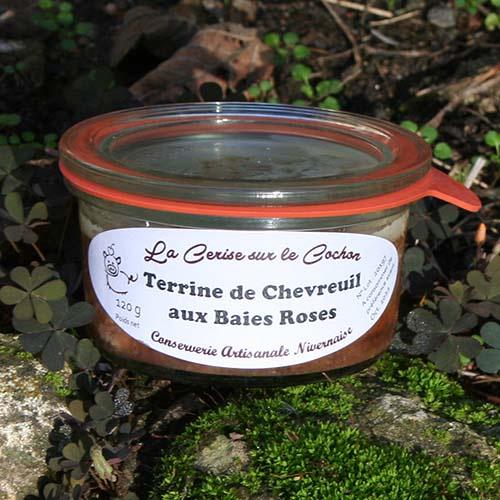 Terrine de chevreuil aux baies roses - 120g