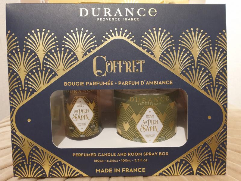 Coffret bougie/parfum d'ambiance DURANCE