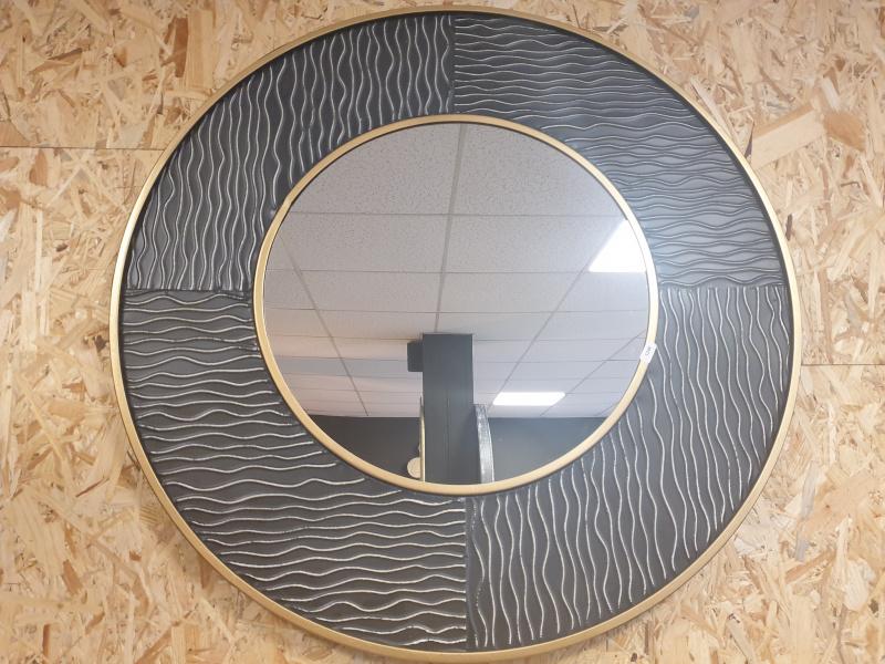 Grand miroir Gold Finger noir et doré