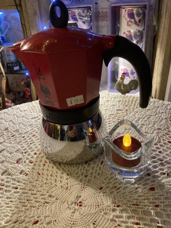Cafetière induction 6 tasses rouge