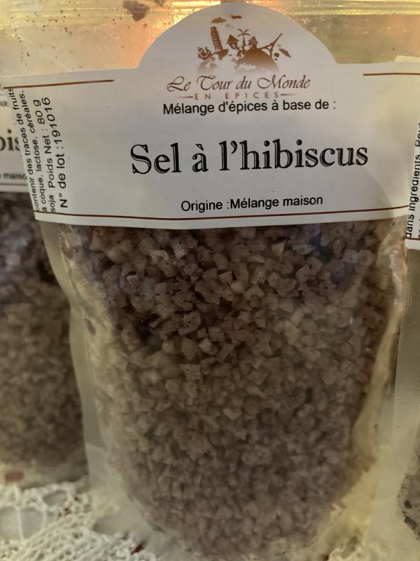 Sel à l'hibiscus