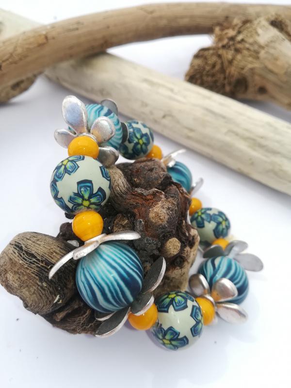 "Bracelet ""fleur bleu"""