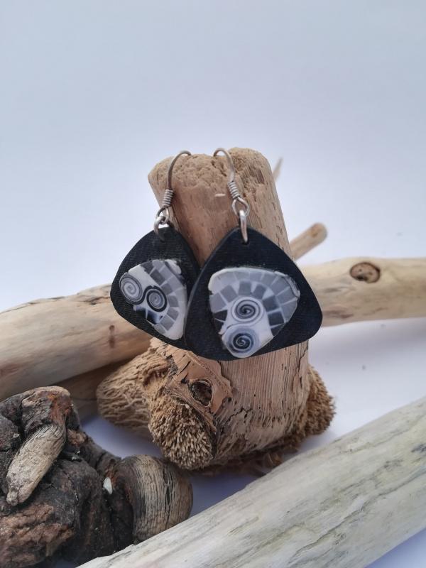 """Boucles d'oreilles """"noir et blanc"""""""