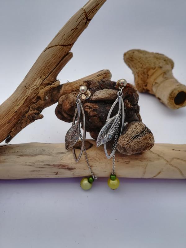 """Boucles d'oreilles """"feuilles vertes"""""""