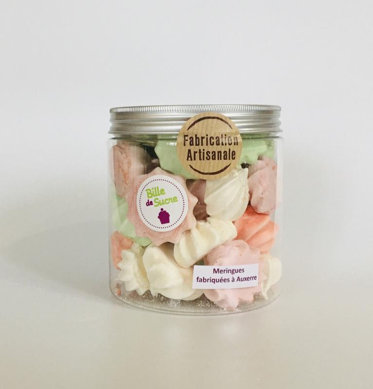 Mini Meringues Artisanales Aromatisées - Bocal de 180g
