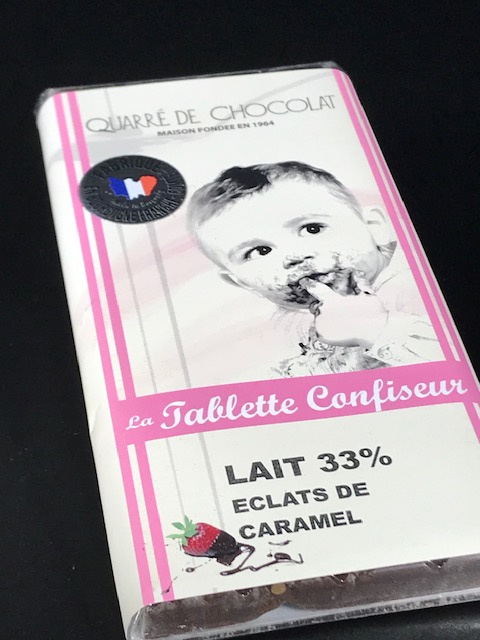 Tablette chocolat au lait éclat de caramel - 100 gr