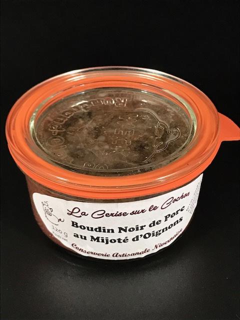Boudin Noir de Porc au Mijoté d'Oignons 120g