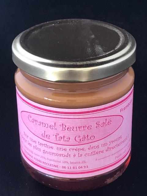 Caramel beurre salé Framboise 240g