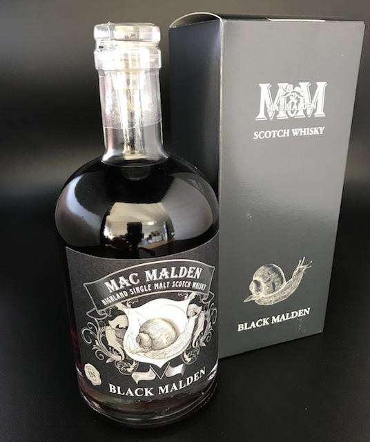 "Whisky single malt ""Black Malden"" 43% - 50cl"