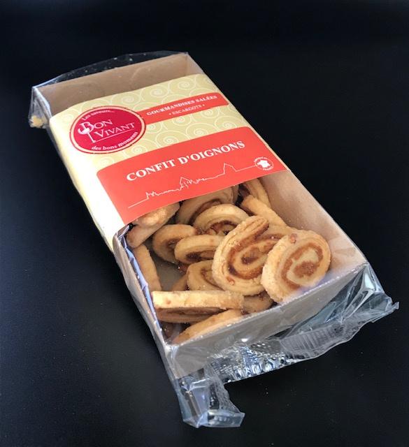 Biscuits Escargots au Confit d'Oignons - Barquette 75G