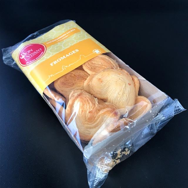 Biscuits Palmiers au Fromage - Barquette de 80 gr