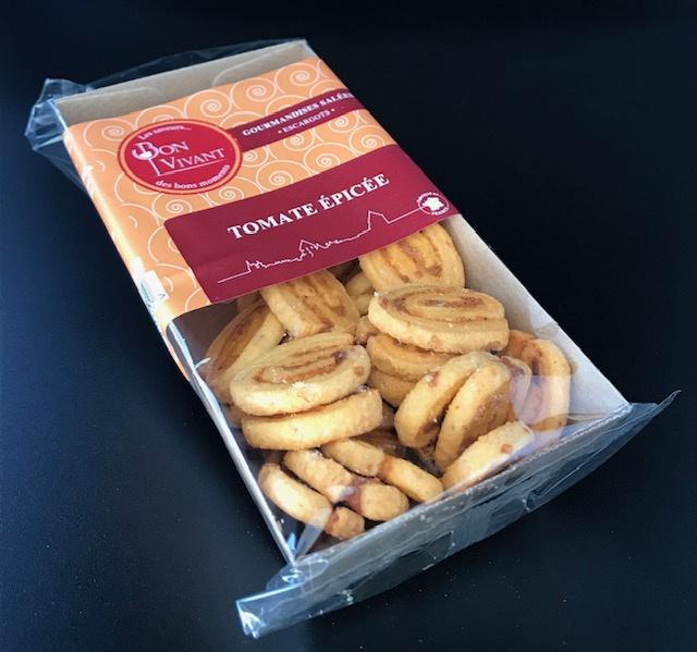 Biscuits Escargots à la Tomate Epicée - Barquette  75G