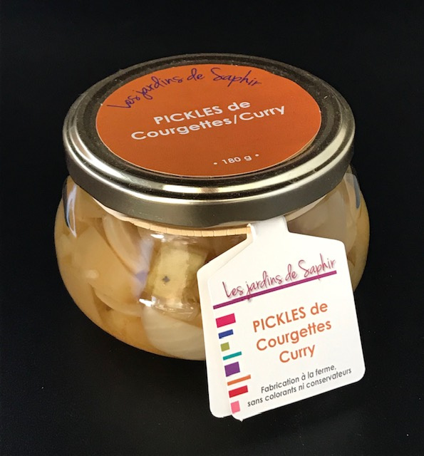 Pickles de Courgettes au Curry - Bocal de  180 gr
