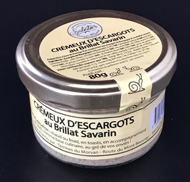 Crémeux d'Escargots au Brillat Savarin 80 gr