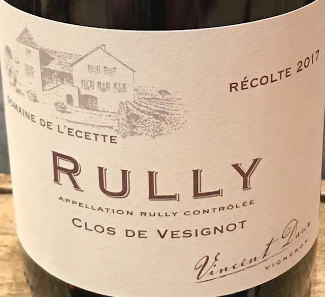 """Rully Rouge """"Clos de Vesignot"""" 2017 - 75 cl"""