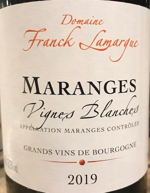 """Maranges """"Vignes Blanches"""" 2019 - 75cl"""