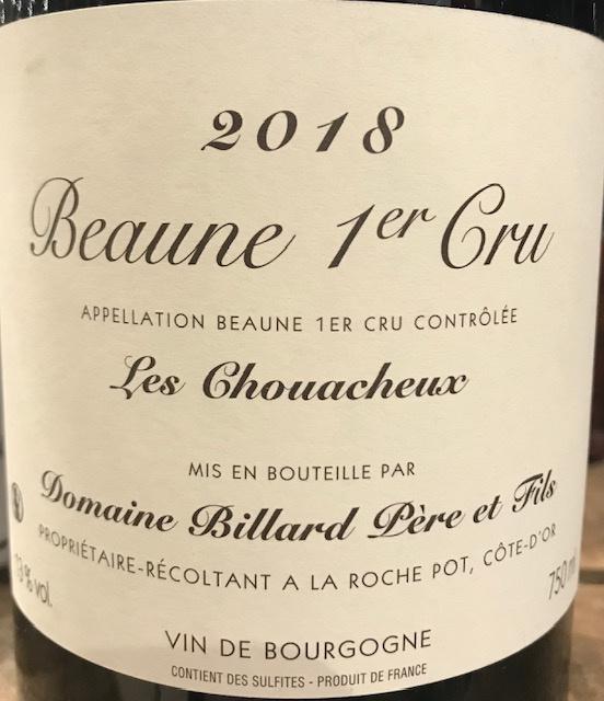 Beaune 1er Cru « Les Chouacheux » 2018 - 75cl