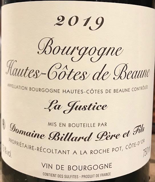 Hautes Cotes de Beaune « La Justice » 2018 - 75cl