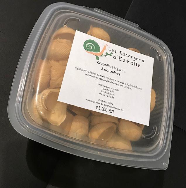 Croquilles pour Escargots Boîte de 5 Douzaines