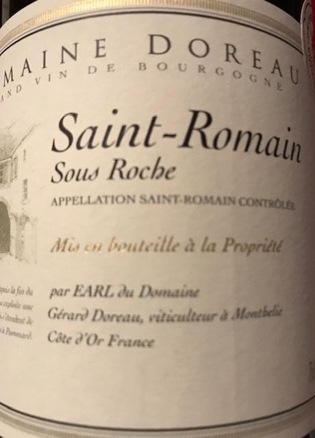 Saint Romain sous Roche 2018 Bouteille 75 cl