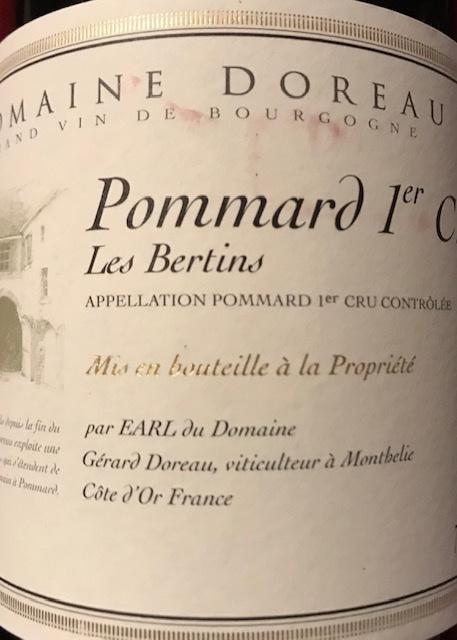 """Pommard 1er cru """"Les Bertins"""" 2017 - 75cl"""