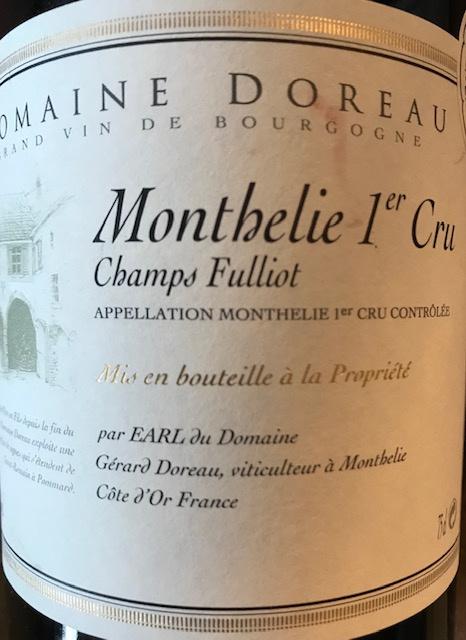 """Monthélie 1 er Cru """" Champs Fuillots""""  2018  - 75 cl"""
