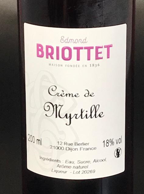 Crème de Myrtilles 18° - Bouteille 20 cl