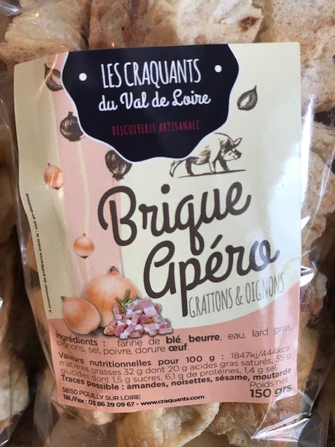 Biscuits apéritifs Grattons et Oignons - 150g