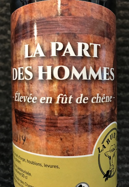 La Rur'Ale La Part des Hommes - 9° - Bouteille 50 cl