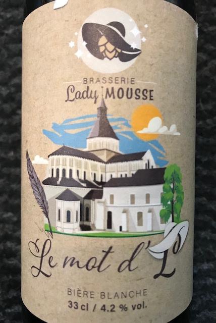"""Bière Blanche """" Le Mot d'L """" - 4.2 ° - Bouteille 33 cl"""