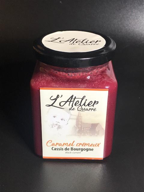 Caramel Crémeux au Cassis Noir de Bourgogne - Pot 280 gr