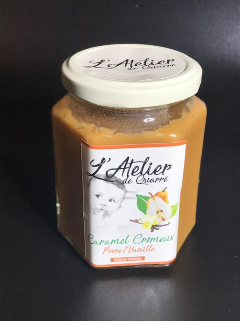 Caramel Crémeux Poire/Vanille - Pot 280 gr