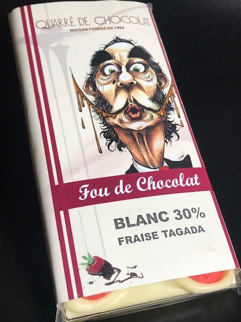 Tablette Chocolat Blanc Fraises Tagada - 80 gr